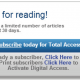 Metered Paywall typical messages