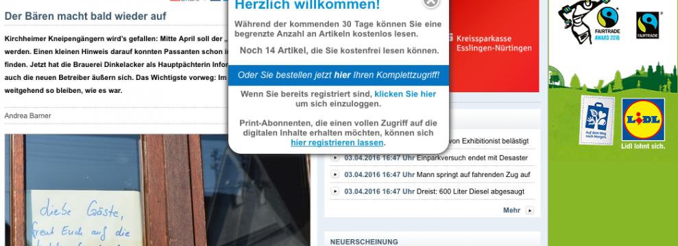 Der Teckbote website